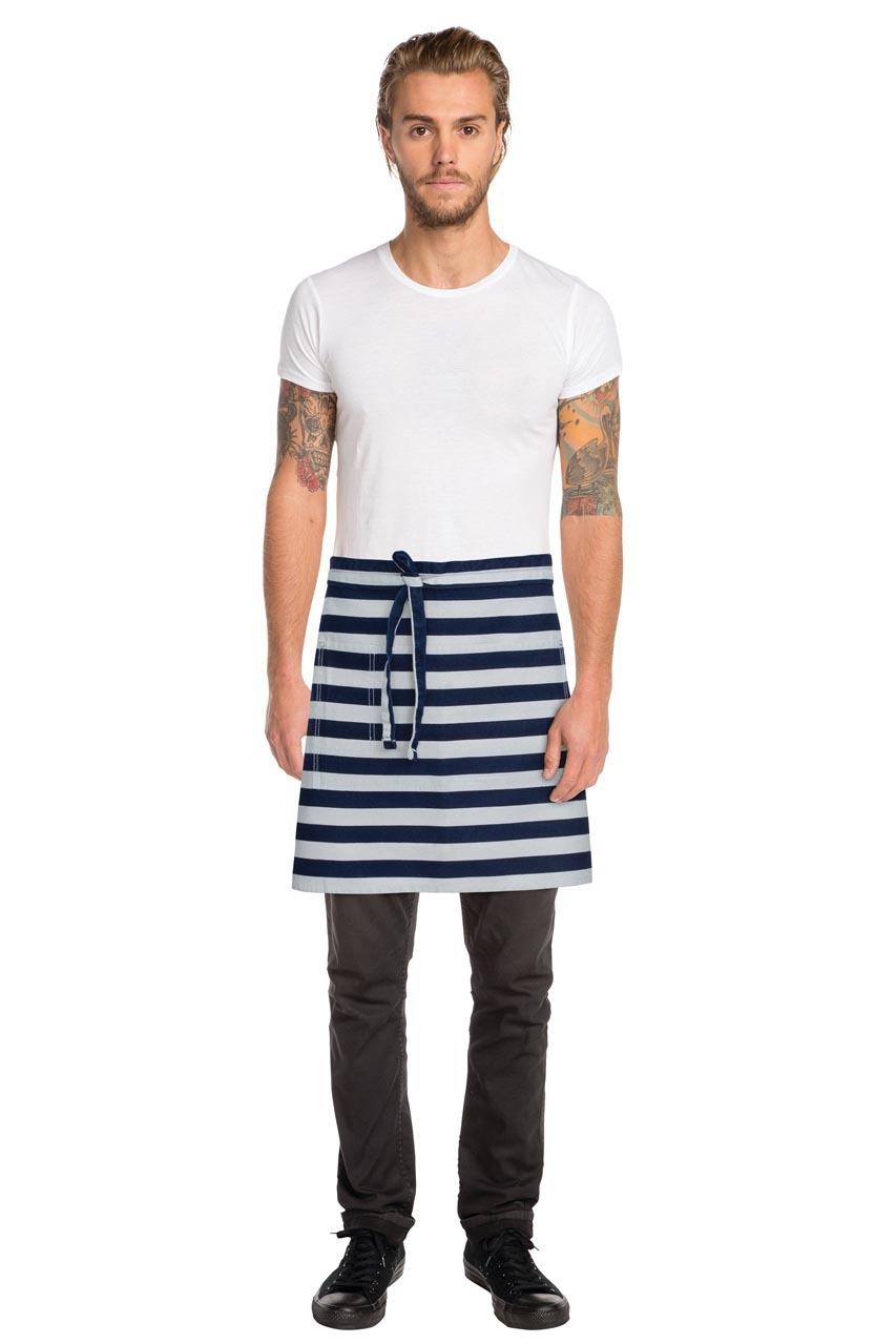 White half apron australia - Chesapeake Indigo Blue Denim Half Apron