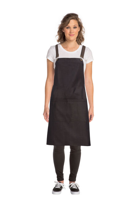 Boulder Black Cross Back Apron