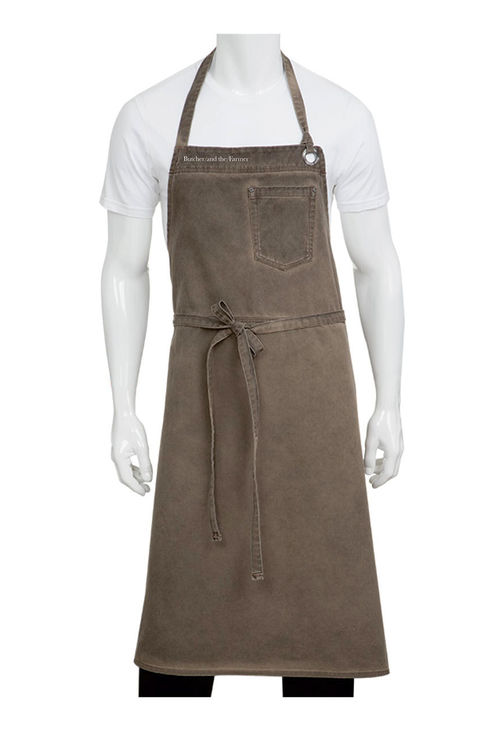 Dorset Earth Brown Bib Apron