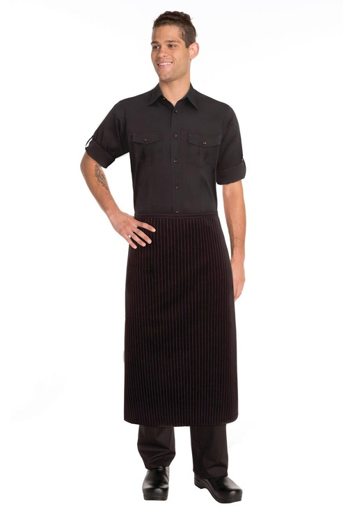 3/4 Red Pinstripe Apron