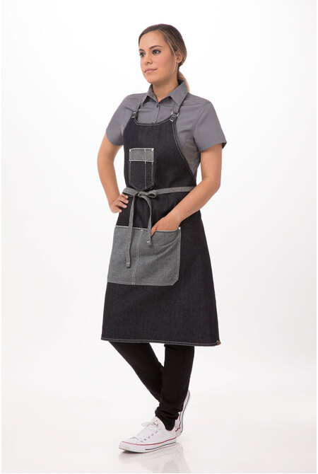 Bronx Bib Apron with Scoop Neck-DC