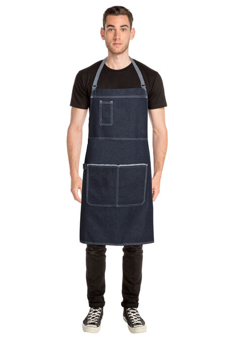 Bronx Blue Denim Cross Back Apron