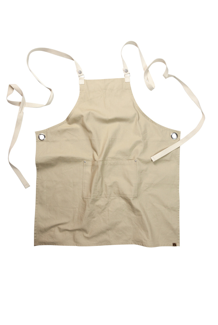 Byron Cross-Back Natural Apron