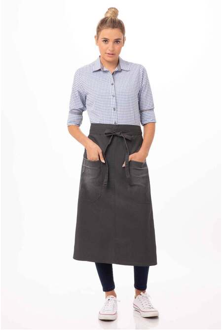 Galveston Grey 3/4 Apron